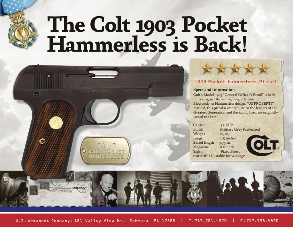 "Colt 1903 ""Pocket Hammerless"" (Credit: U.S. Armament Corp.)"